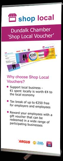 Shop Local Roll Up Banner